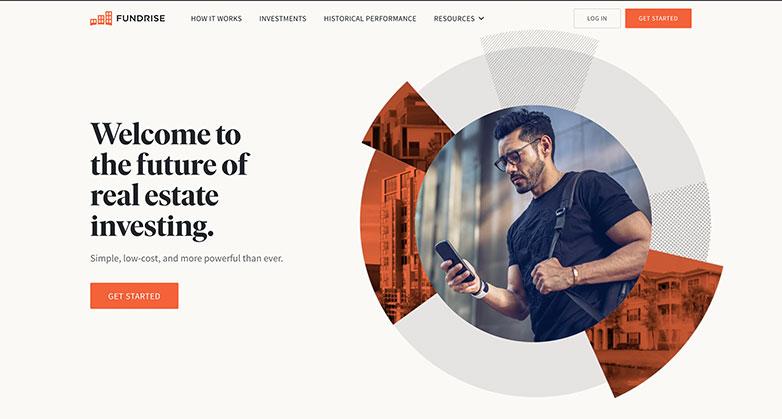 Fundrise real estate investor website design