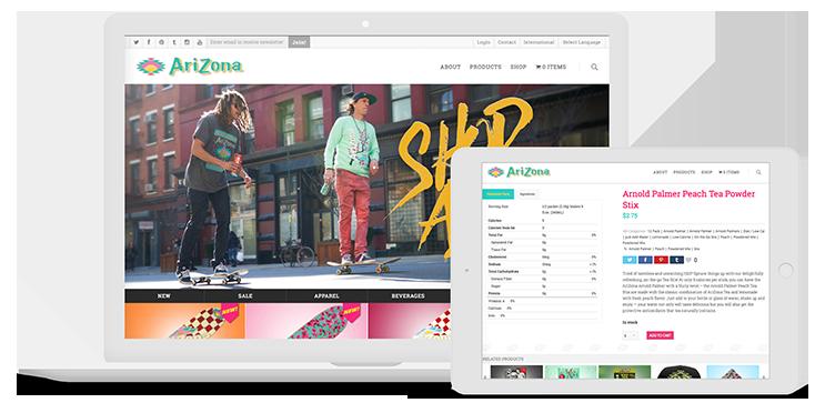 Mediaboom assists Arizona Beverage Company with E-commerce website development.