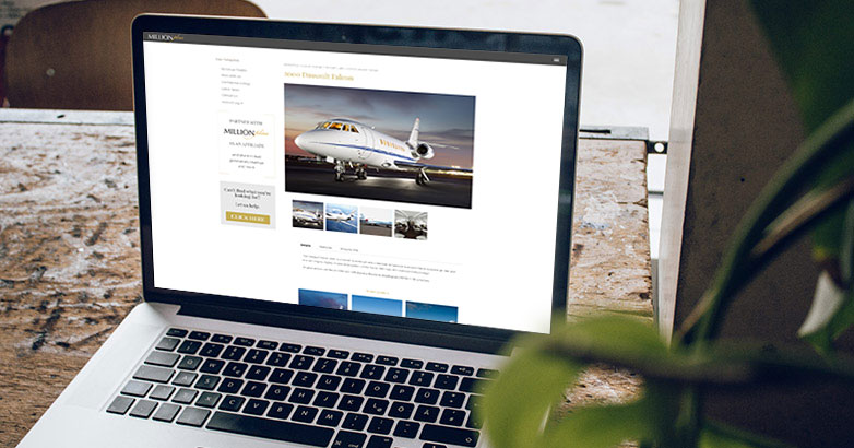 Custom landing page design, development and implementation for jet marketing strategy