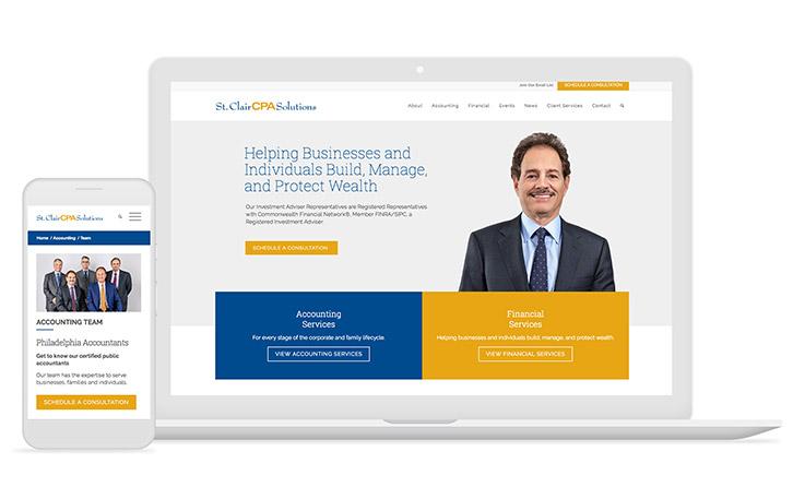 Accounting firm website design by Mediaboom.