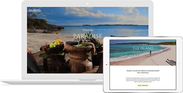The Islands of Copperfield Bay Website By Mediaboom