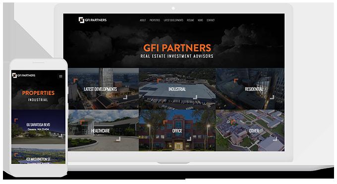 Mediaboom assists GFI Partners with commercial real estate website design