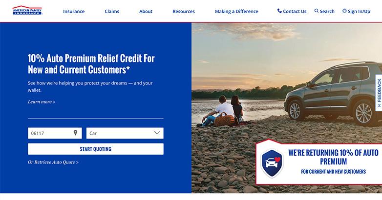 insurance firm website design