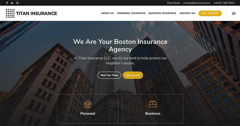 titan insurance website design
