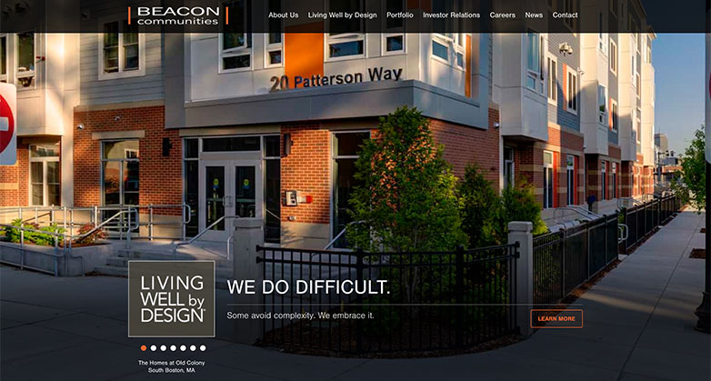 beacon communities real estate investor website design
