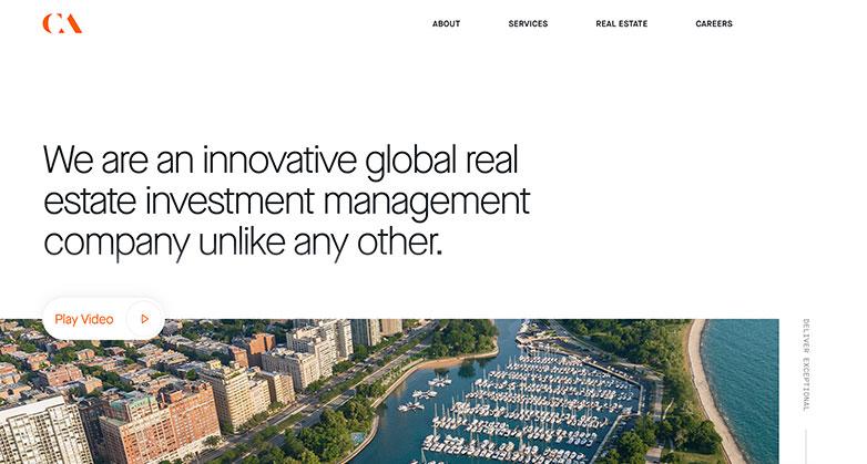 CA Ventures real estate investor website design