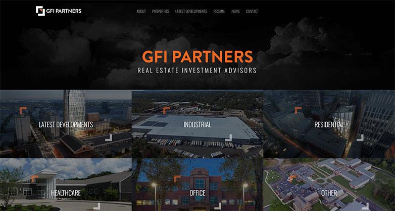 gfi partners real estate investor website design