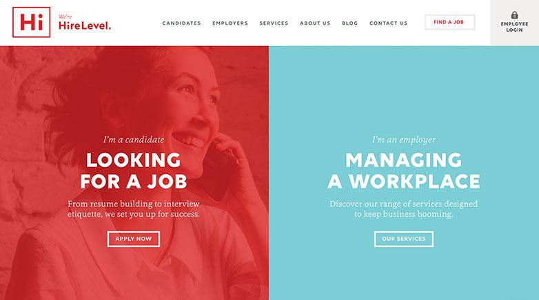 hire level b2b website design