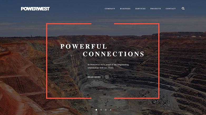 powerwest b2b website design