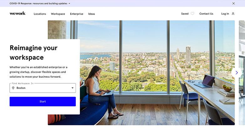 wework b2b website design