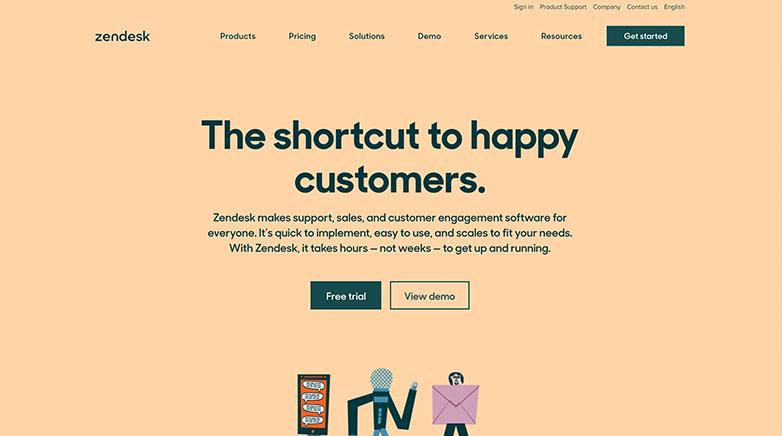 zendesk b2b website design