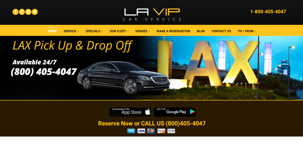 la vip car service website
