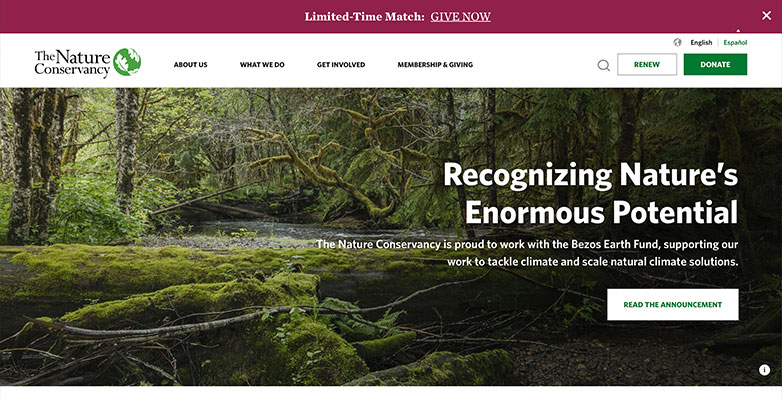Nature Conservacy Website