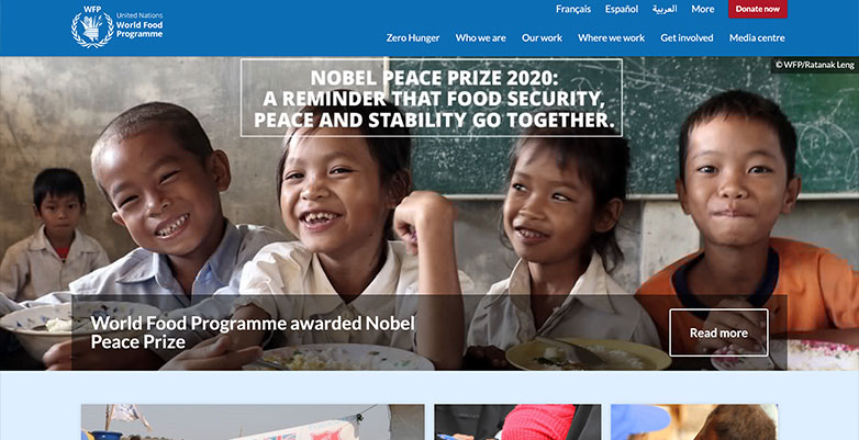 World Food Pramme Website