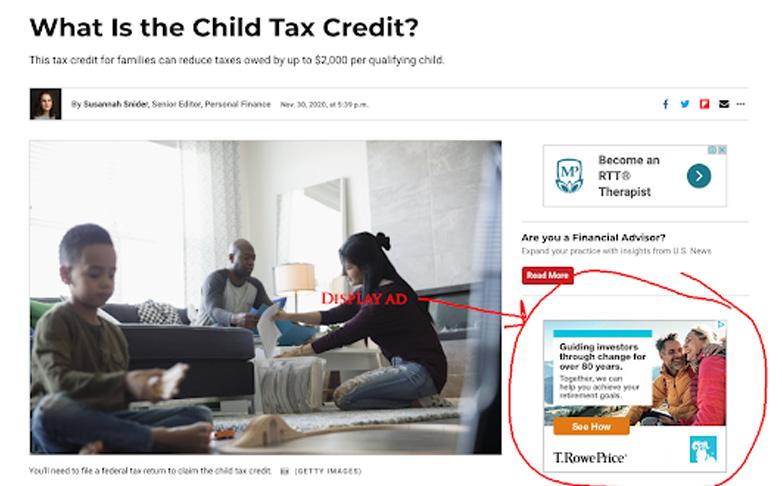 financial display ads