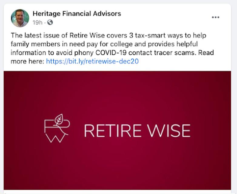 financial advisor facebook ads