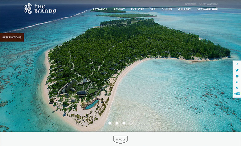 the brando luxury website design