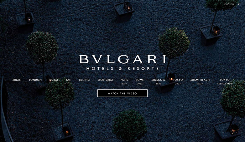 bulgari website design
