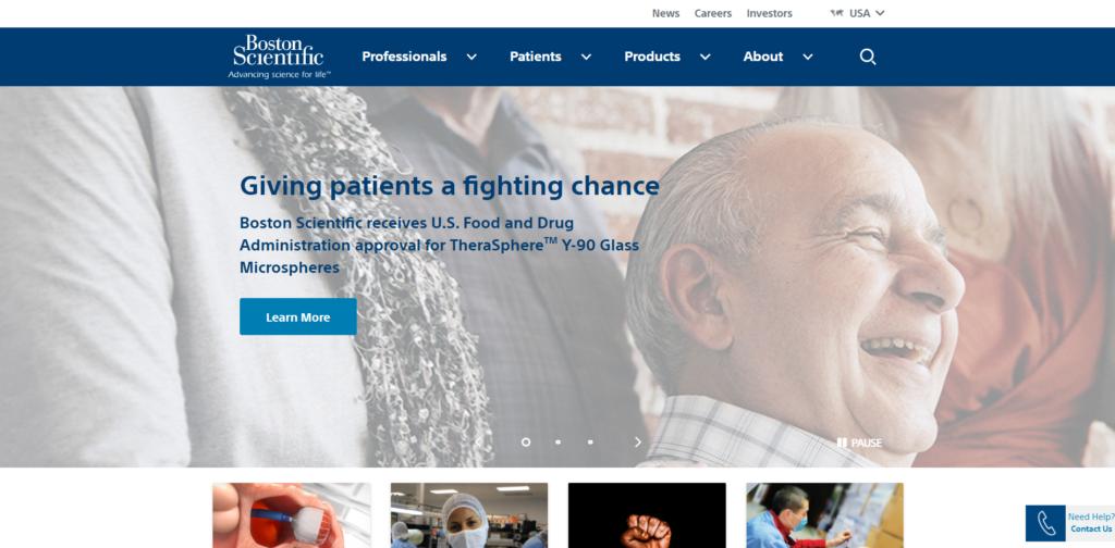 Boston Scientific website