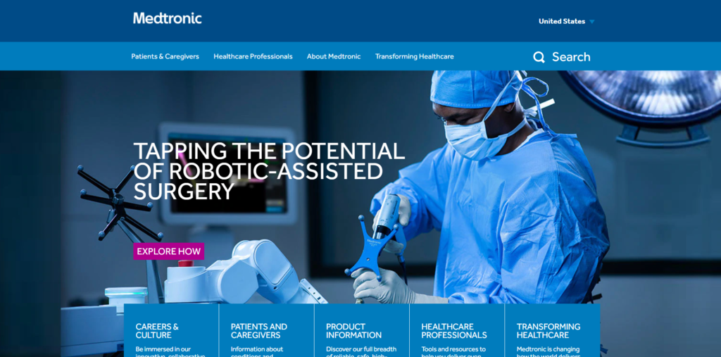 Medtronic website