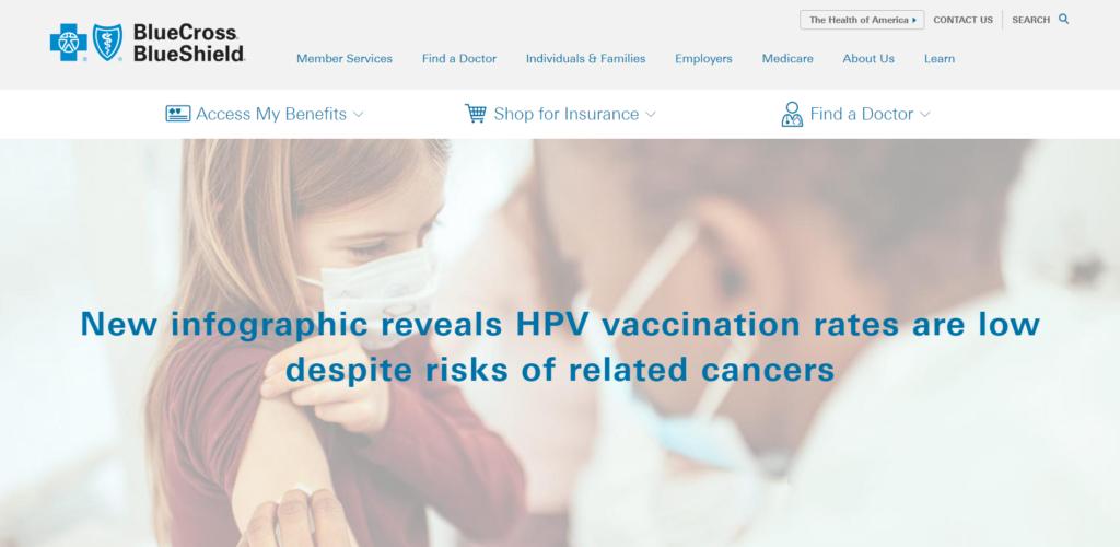 Blue Cross Blue Shield Website