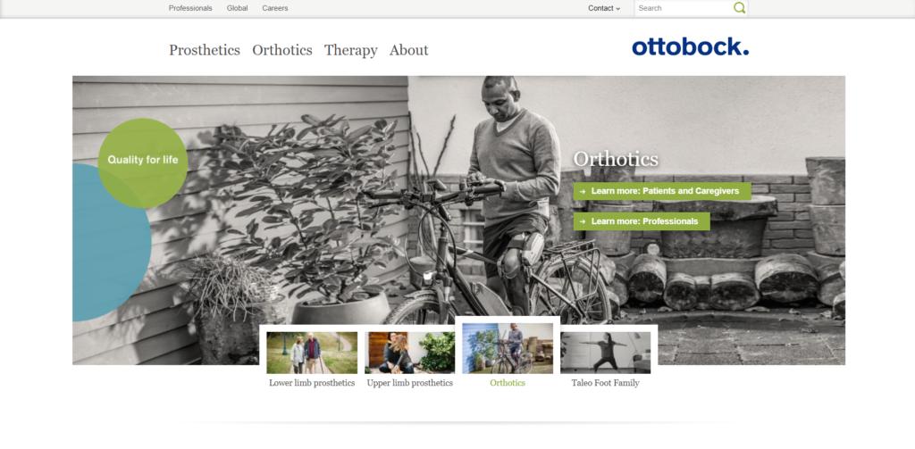 Ottobock website