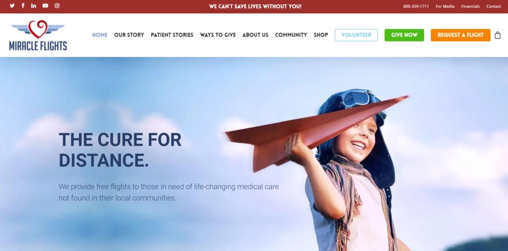 Miracle Flights Website