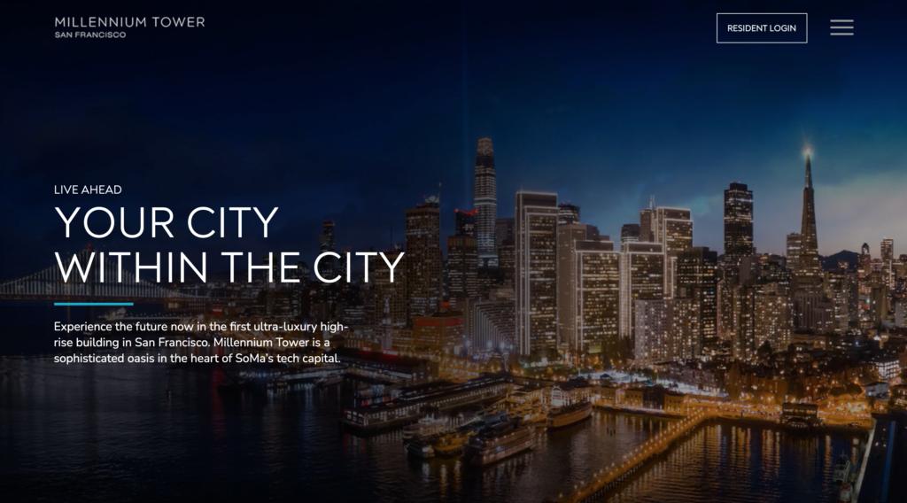 Millennium Tower Website