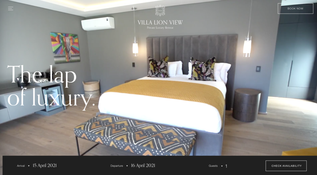 Villa Lion Vew Website
