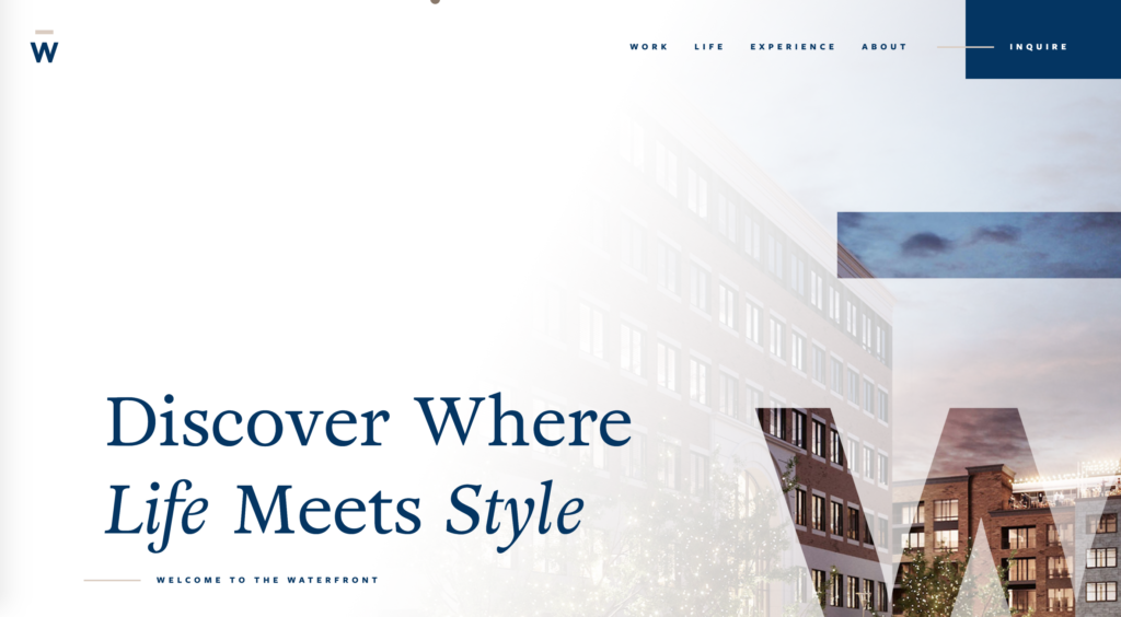 The Waterfront Website