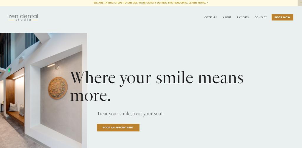 List of Dental website Design